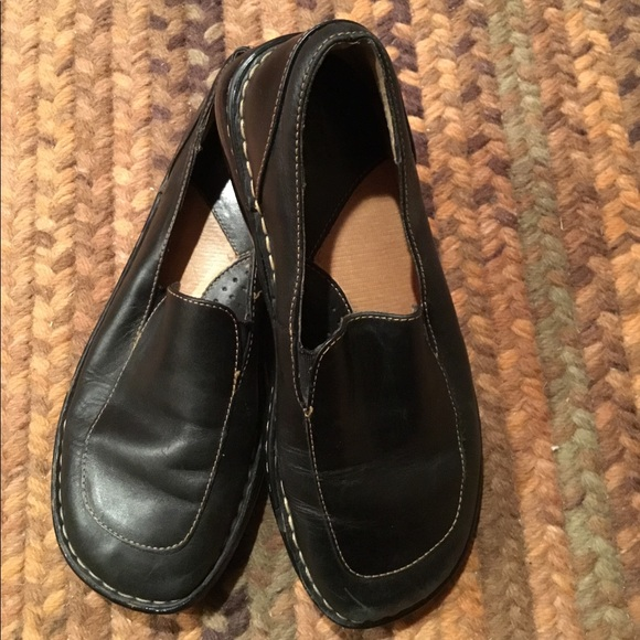 Born Shoes   Black Loafers Size 75